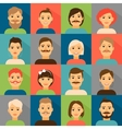Avatar app icons User hipster face set vector image vector image