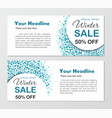 banners round background with dots vector image vector image