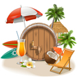 Beach Bar vector image vector image