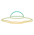 beach hat fashion trendy accesory icon vector image vector image