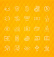 bitcoin line icons vector image vector image