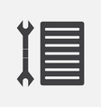 black icon on white background wrench and grille vector image vector image
