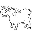 Buffalo outline vector image vector image