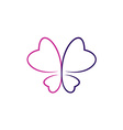Butterfly outlines logo vector image vector image