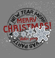 christmas and new years background with greeting vector image vector image