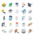 computer hardware isometric pack vector image