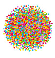 Confetti ball vector image
