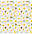 cute pastel flowers seamless repeat pattern vector image vector image