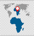 detailed map of africa and world map navigation vector image