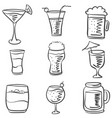 doodle drink various hand draw