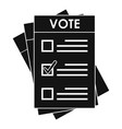 election paper icon simple style vector image