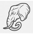 Elephant symbol logo emblem vector image vector image