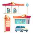 gas station refueling service isolated items set vector image vector image