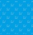 gelada monkey pattern seamless blue vector image vector image