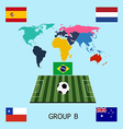 Group B - Spain Netherlands Chile Australia vector image