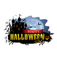 halloween banner with dracula castle vector image vector image