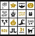 halloween templates badges set vector image vector image