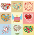 heart shapes set vector image