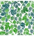 hop corn seamless pattern organic beer vector image vector image