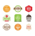 Indian cuisine label vector image