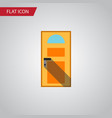 isolated entry flat icon exit element can vector image vector image