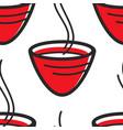 japanese tea cup steaming herbal beverage seamless vector image vector image