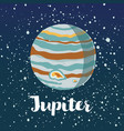 jupiter icon isolated sign symbol vector image