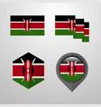 kenya flag design set vector image vector image