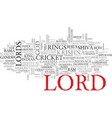 lord word cloud concept vector image vector image