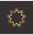 luxury gold flower logo plant image vector image vector image