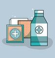 medical care tools to first aid vector image vector image