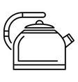 metal kettle icon outline style vector image