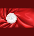 moisturizing cream on red silk background vector image vector image