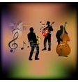 musical background with a saxophone guitar and vector image