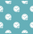 no time pattern seamless blue vector image vector image