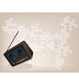 Old Radio Brown Background vector image vector image