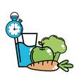 organic food icon set design vector image vector image