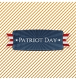 Patriot Day Emblem and Ribbon vector image vector image