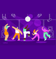 people dancing in night club flat concept vector image vector image