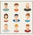 People icons peolple avatars flat style vector image vector image