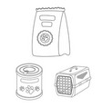 pet shop outline icons in set collection for vector image vector image