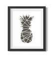 pineapple abstract black with white in frame vector image vector image