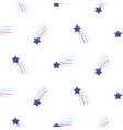 rainbow star seamless pattern background vector image vector image