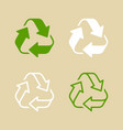 recycling logo vector image vector image
