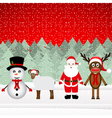 Santa Claus reindeer snowman and sheep vector image vector image