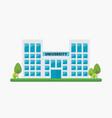 school building in flat style vector image vector image