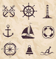 seafarer set nautical design elements vector image