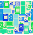 Seamless pattern with domestic electric appliances vector image