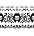 seamless wedding laace pattern ornamental black vector image vector image