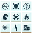 sign icons set with no smoking barrel forbidden vector image